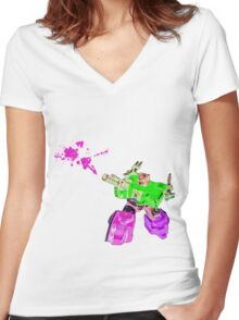 Optimized Prime Women's Fitted V-Neck T-Shirt