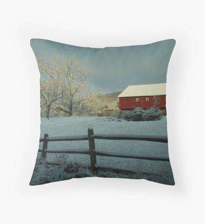 Snowscape Throw Pillow