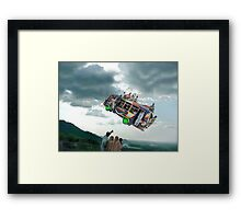 Look everyone! Let's wave to the Islamabad Express Punctual 3PM Spacebus! Framed Print