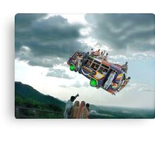 Look everyone! Let's wave to the Islamabad Express Punctual 3PM Spacebus! Canvas Print