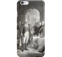 George Washington and His Generals--Oil Painting iPhone Case/Skin
