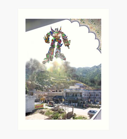 Routine Launch of the Kalam Kickbot WX10-3000 Art Print