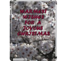 TO my RB friends....Warmest Wishes for a Joyous Christmas !! iPad Case/Skin