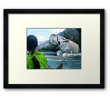 The Saiful Muluk lake Monster Framed Print