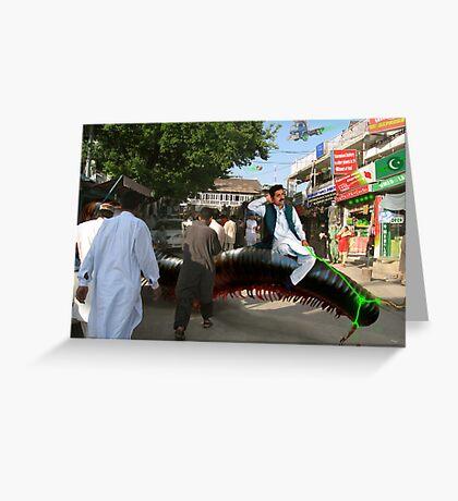 Abdur Rashid The Millipede Man Greeting Card