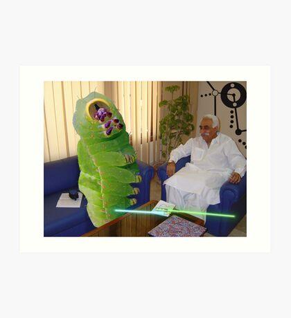 Inventor Bashir Reveals a new anti-dOve weapon to Beetlepillar Slugwasp Art Print