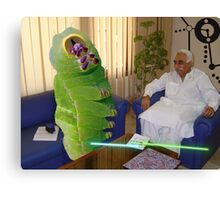 Inventor Bashir Reveals a new anti-dOve weapon to Beetlepillar Slugwasp Canvas Print