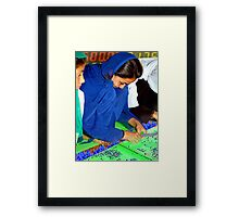 Electroweaving in Cholistan Framed Print