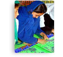 Electroweaving in Cholistan Canvas Print