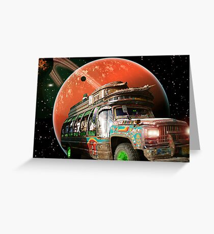 The Bedford Battlestar One is in Hot Pursuit of the Slorpain Bird Being Queen Greeting Card