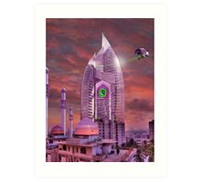 The New Lahore Skycity Pakistani Starfleet Headquarters Art Print