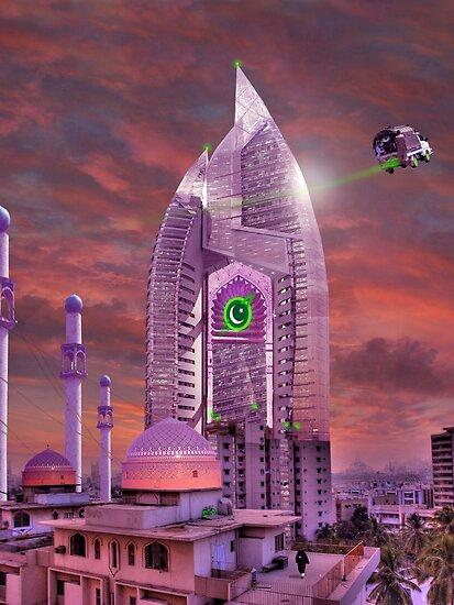 The New Lahore Skycity Pakistani Starfleet Headquarters by Kenny Irwin