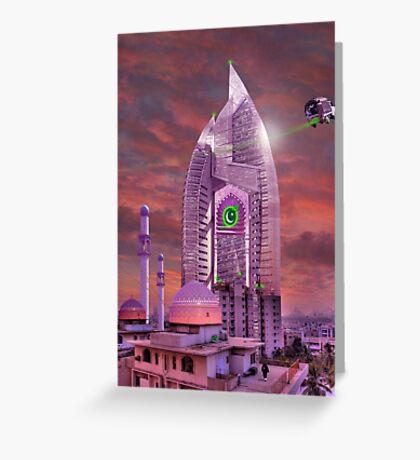 The New Lahore Skycity Pakistani Starfleet Headquarters Greeting Card