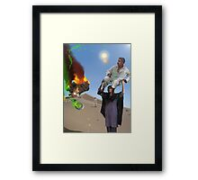 A Woman has got to do a Man's job at the Crash landing on the Moon of New Khanpur Framed Print