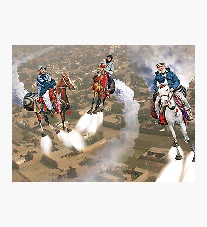 Peshawar پشاور Cronosphere Rocket Horse Racers Photographic Print