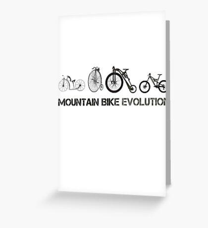 Mountain Bike Evolution Greeting Card