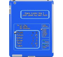 All out of F*cks (Explicit) iPad Case/Skin