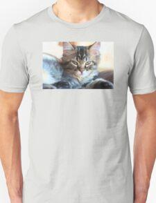 Kitty Cat--mixed media painting Unisex T-Shirt