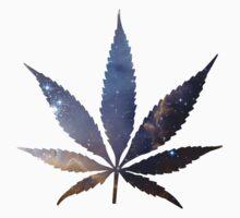 Nebula Cannabis Leaf Numero Uno by HighlyAnimated