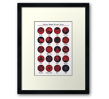 Potentially Mislabeled Microcosmos Samples Framed Print