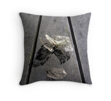 lace leaf Throw Pillow