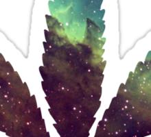Nebula Cannabis Leaf Numero Duo Sticker