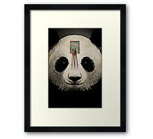 Panda window cleaner 03 Framed Print