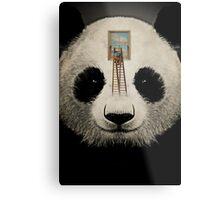 Panda window cleaner 03 Metal Print