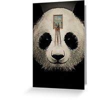 Panda window cleaner 03 Greeting Card