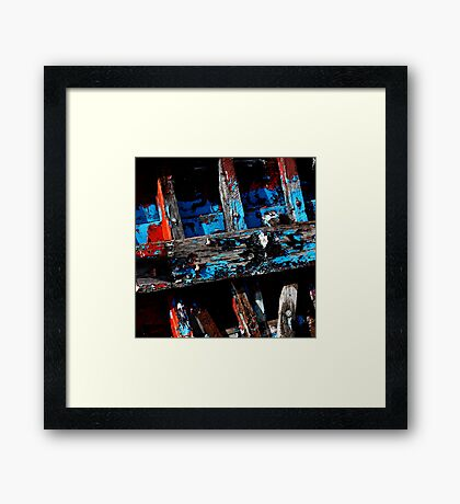 Weathered Paint Framed Print