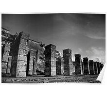 Columns at Chichen Itza Poster
