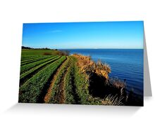 Walking on the November cliff Greeting Card