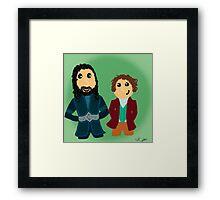 Bilbo & Thorin Framed Print