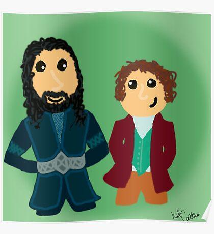 Bilbo & Thorin Poster