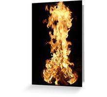 Raging Inferno Greeting Card
