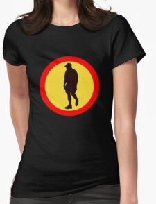 WALK AWAY ROAD SIGN Womens Fitted T-Shirt