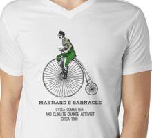 Climate change commuter Mens V-Neck T-Shirt