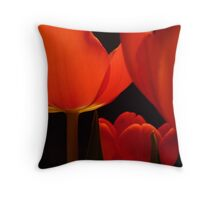 tulips red Throw Pillow