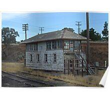 Old Railway Signal Box - Demondrille NSW Poster