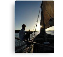 Dhow Sailing  Canvas Print