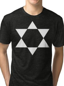 Ascending Pentagram [White Ink] Tri-blend T-Shirt