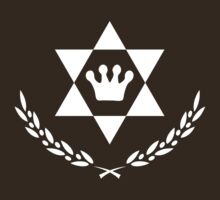 Ascending Hexagram Cyprus Leaf Logo [White Ink] by FreshThreadShop