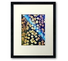Blurred Lights Framed Print
