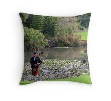 Piping by the lake Throw Pillow