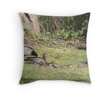 Wood Duck Family Throw Pillow