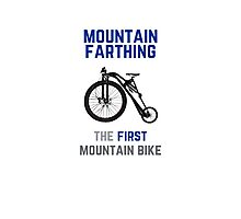 The First Mountain Bike: the mountain farthing Photographic Print