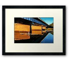 """Moorabool Street Bridge"" Framed Print"