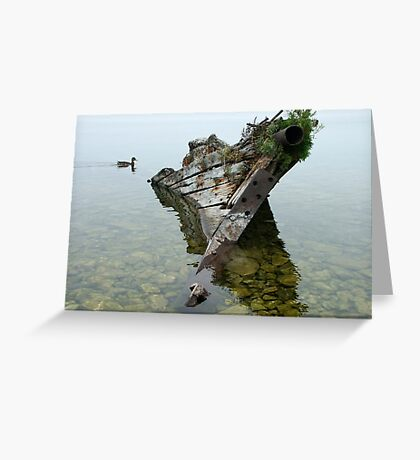 Tobermory shipwreck Greeting Card