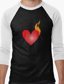 Burning Love Men's Baseball ¾ T-Shirt