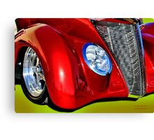 Red Hot And Silver Canvas Print